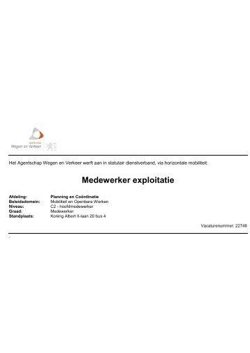 Medewerker exploitatie - Jobpunt Vlaanderen