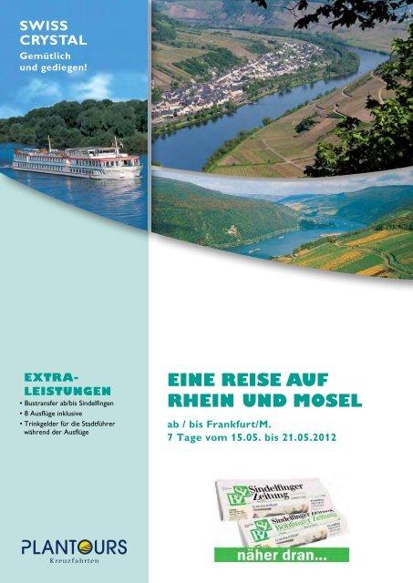 EINE REISE AUF RhEIN UND MOSEL - Sindelfinger Zeitung ...