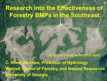 Dr. Rhett Jackson, Professor of Hydrology, University of Georgia