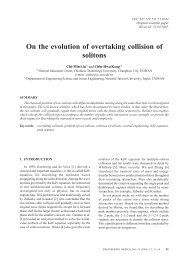 On the evolution of overtaking collision of solitons