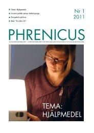 Phrenicus nummer 1 - Schizofreniförbundet