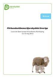 Motion nr 1 - Djurskyddet Sverige