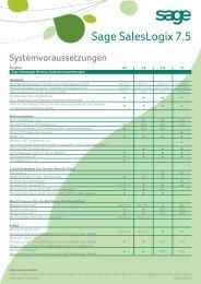 Systemvoraussetzungen Saleslogix - data