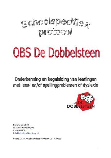 Bijlage 3 Protocol Onderkenning + begeleiding van leerlingen met ...