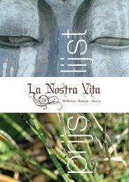 U kunt hier onze prijslijst downloaden - La Nostra Vita