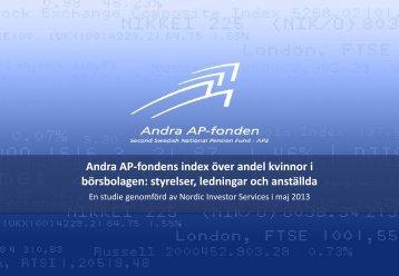 PDF-dokument, 263 kB - Andra AP-fonden