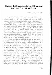Discurso de Comemoração dos 106 anos da Academia Cearense ...