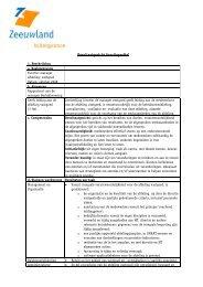 Resultaatgericht functieprofiel - Zeeuwland