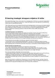 Pressemeddelelse El-løsning imødegår ... - Schneider Electric