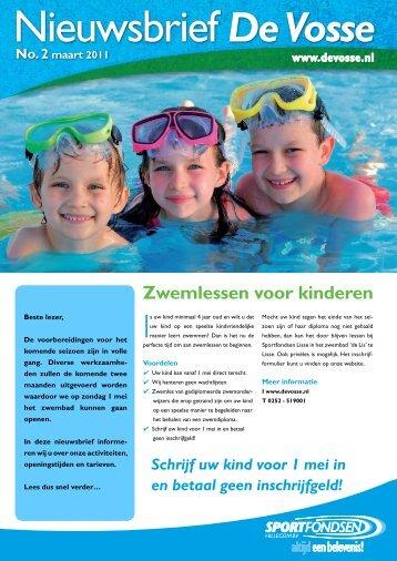 Zwemlessen voor kinderen - Sportfondsen