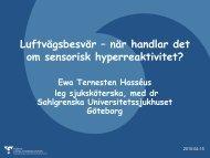 Luftvägsbesvär - när handlar det om sensorisk hyperaktivitet