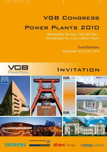 Invitation VGB Congress 2010 - VGB PowerTech