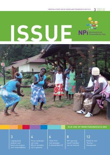 Issue 3, 2010 - Nederlands Paramedisch Instituut