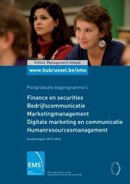 Finance en securities Bedrijfscommunicatie ... - HUBRUSSEL.net