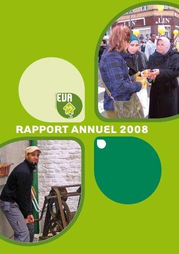 RappoRt annuel 2008 - EVA vzw