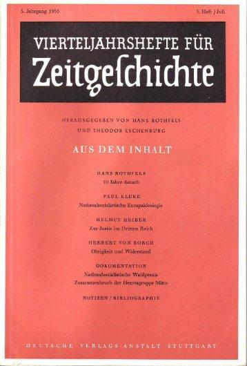 VIERTELJAHRS HEFTE FÜR ZEITGESCHICHTE - Institut für ...