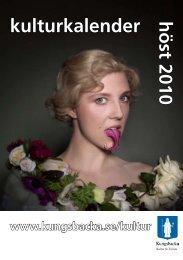 kulturkalender höst 2010 - Kungsbacka kommun