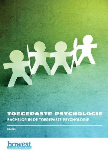 Opleidingsbrochure Toegepaste psychologie - Howest.be