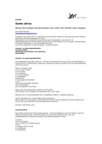 Jt Soete Sitrus - jouwêreld e-tydskrif