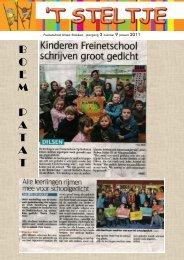 Steltje 9 januari 2011 - Freinetschool Op Stelten