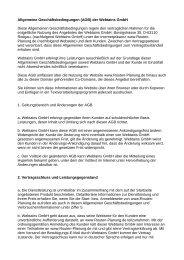 Allgemeine Geschäftsbedingungen (AGB) der Webtains GmbH Diese