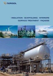 · INsulatIoN · scaffoldINg · INterIors · surface treatmeNt · façades