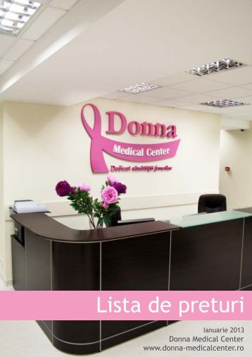 Lista de preturi - Donna Medical Center