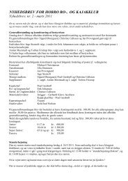 Nyhedsbrev nr 2 - marts 2011 - Hobro Ro- og Kajakklub