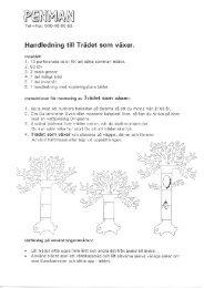 Handledning - trädet som växer - penman