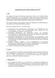 Jugendsatzung der Sektion Koblenz des DAV - DAV Sektion Koblenz