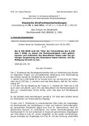 BGHSt 2, 194 - Prof. Dr. Klaus Marxen