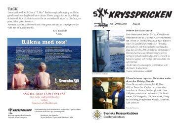 Krysspricken Nr 1 2010-2011 - Svenska Kryssarklubben