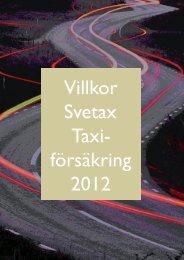 villkors svetax klar.indd - SverigeTaxi
