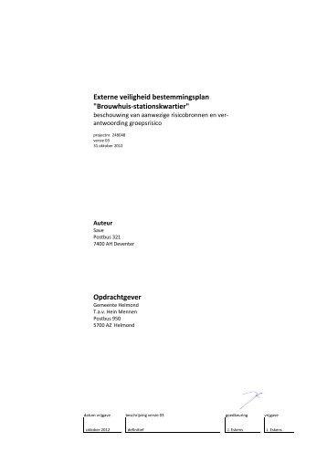 Externe veiligheid bestemmingsplan - Gemeente Helmond