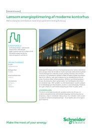 Lønsom energioptimering af moderne kontorhus - Schneider Electric