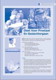 Dieet Voor Prostaat En Geslachtorgaan - AyurvedaActueel.com
