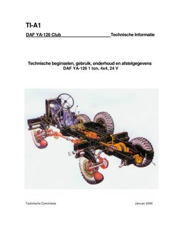 Handboek YA-126 - DAF YA 126 CLUB