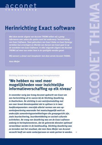 Herinrichting Exact software - Acconet