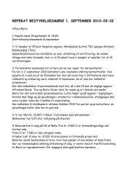 Referat af bestyrelsesmøde d. 3/9 2010