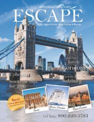 Brochure from 2011 Quarter 1 - Affordable Tours