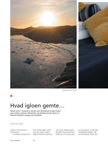 Hvad igloen gemte… - Hotel Arctic