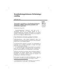 KIFS 2011:3 - Kemikalieinspektionen