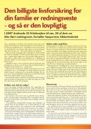 Den billigste livsforsikring for din familie er redningsveste - Danske ...