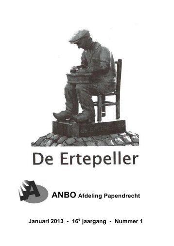 ANBO Afdeling Papendrecht Januari 2013 - 16e jaargang - Nummer 1