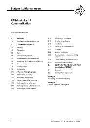 Statens Luftfartsvæsen ATS-instruks 14 Kommunikation
