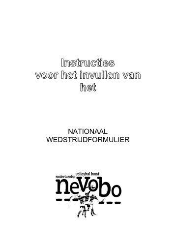 Invulinstructie nationaal wedstrijdformulier - EVV