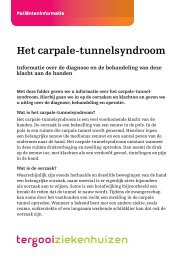 Het carpale-tunnelsyndroom [86kb] Klinische ... - Tergooi