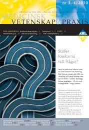 Nr 3/4, 2010 (pdf) - SBU