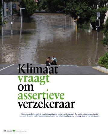 Klimaat vraagt om assertieve verzekeraar - Verbond van Verzekeraars