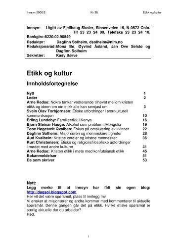 Innsyn 2006/2 - Fjellhaug Internasjonale Høgskole